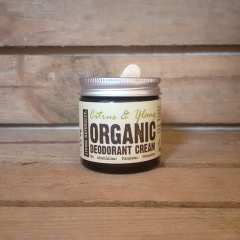 vegan organic deodorant cream aluminium and paraben free made with organic soapnut extract