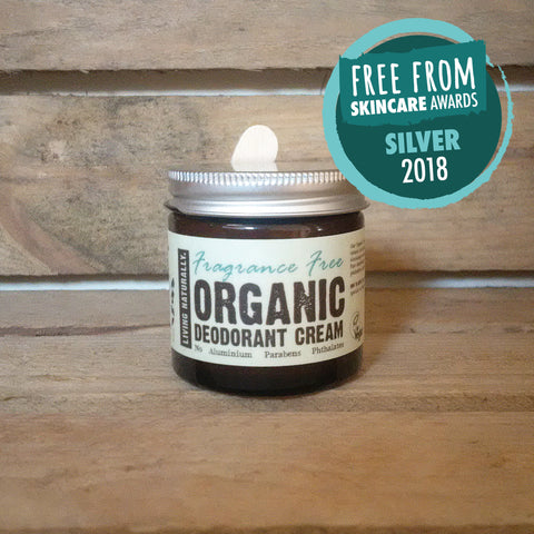 vegan organic deodorant cream aluminium and paraben free made with organic soapnut extract zero waste