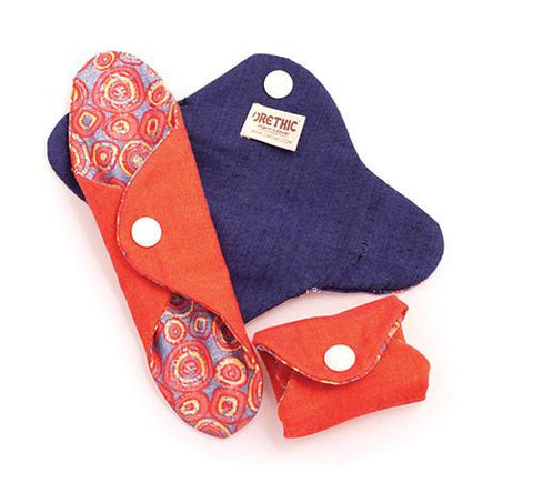 we stock orethic reusable sanitary pads vegan plastic free zero waste