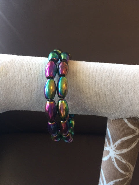 Magnetic Bracelet/Anklet with Rainbow Beads