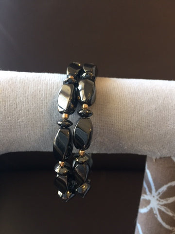 Magnetic Bracelet/Anklet with Hematite Stones