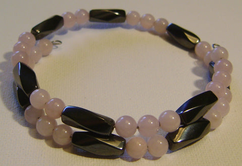 Magnetic Rose Quartz Bracelet/Anklet