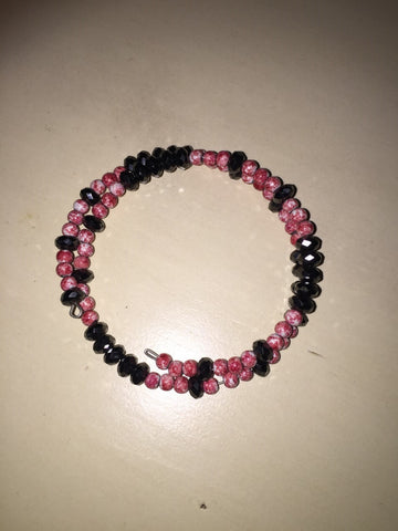 Magnetic Bracelet with Red Stones