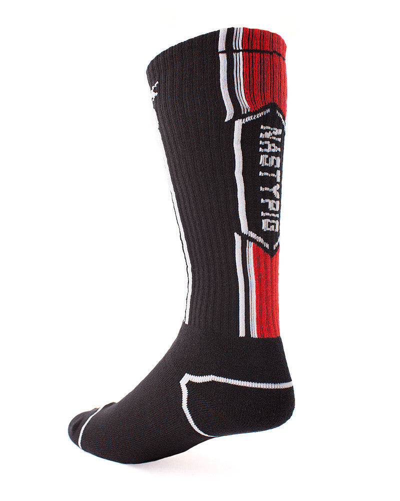 The Nasty Pig Title Socks is available at UnderBriefs. Free shipping available for US orders! - 2