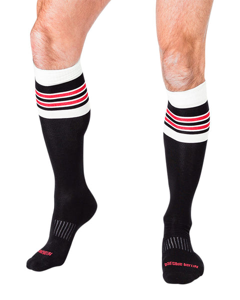 Barcode Berlin Football Socks Black White Red 90143