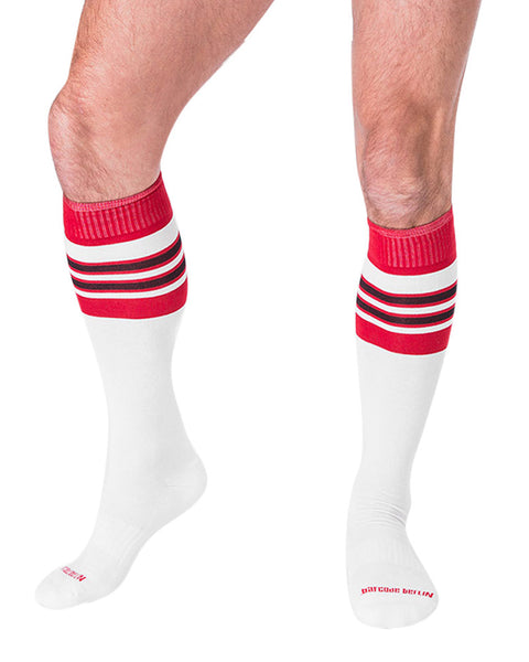 Barcode Berlin Football Socks White Red Black 90143