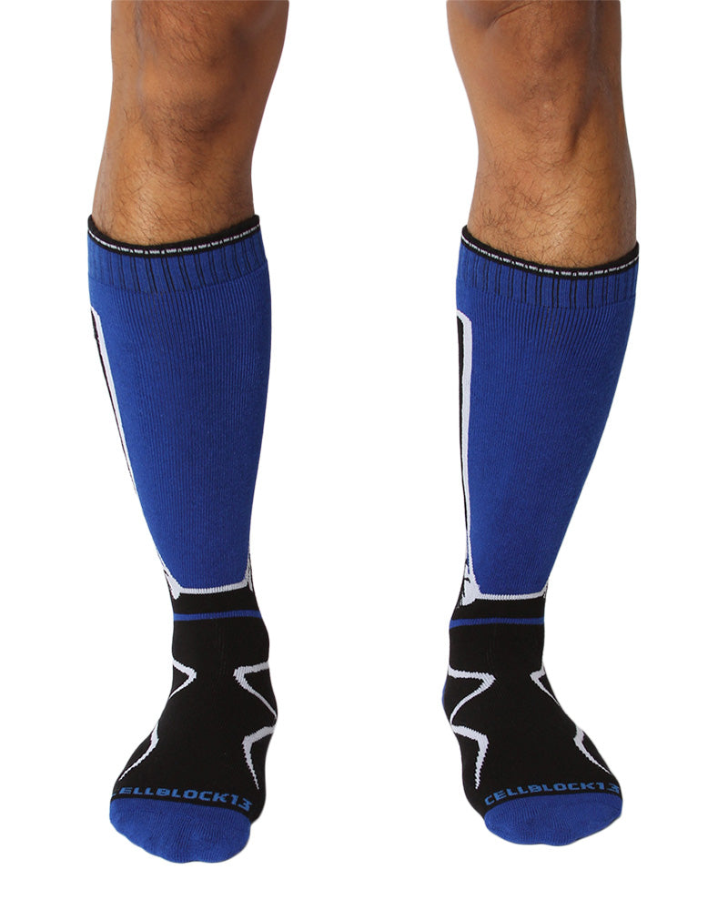 UnderBriefs | Underwear for Men | CellBlock 13 Kennel Club 2.0 Mid-Calf Socks Blue