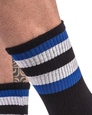 Barcode Berlin Fetish Striped Crew Socks-Socks-Barcode Berlin-Underwear-Men-Fetish-UnderBriefs