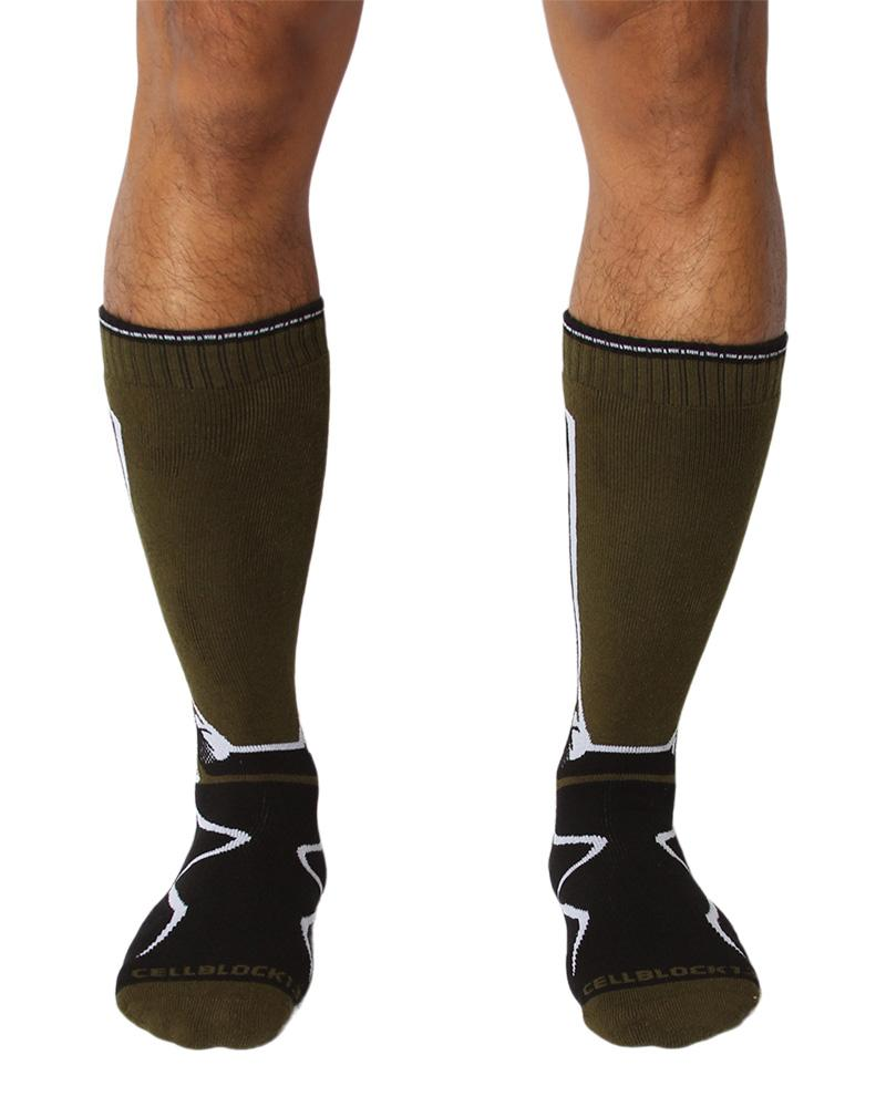 CellBlock 13 Kennel Club 2.0 Mid-Calf Socks-Socks-CellBlock 13-Underwear-Men-Fetish-UnderBriefs