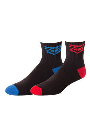 UnderBriefs | Underwear for Men | Nasty Pig Flasher Socks Two-Pack Red/Blue