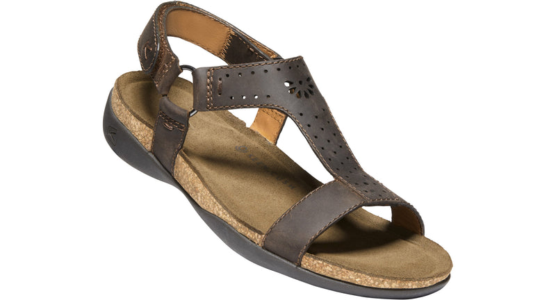 Keen Women's Kaci Ana T-Strap Sandal dark earth