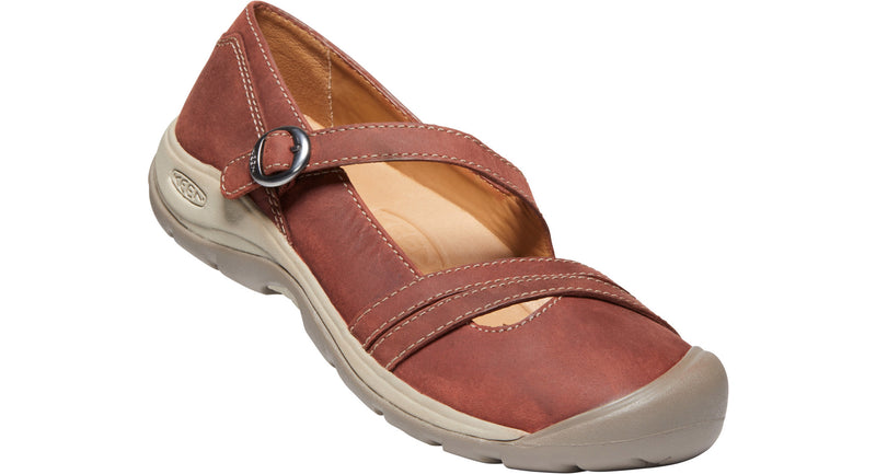 Keen Women's Presidio II Cross Strap fired brick/brindle