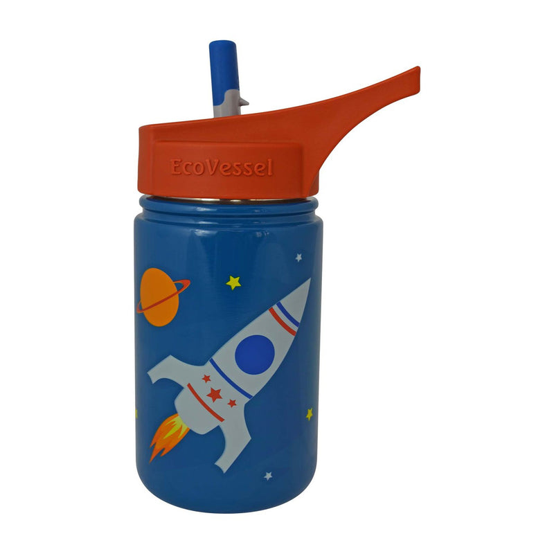 EcoVessel Scout Kids Bottle w/ Straw Top - 13 oz.