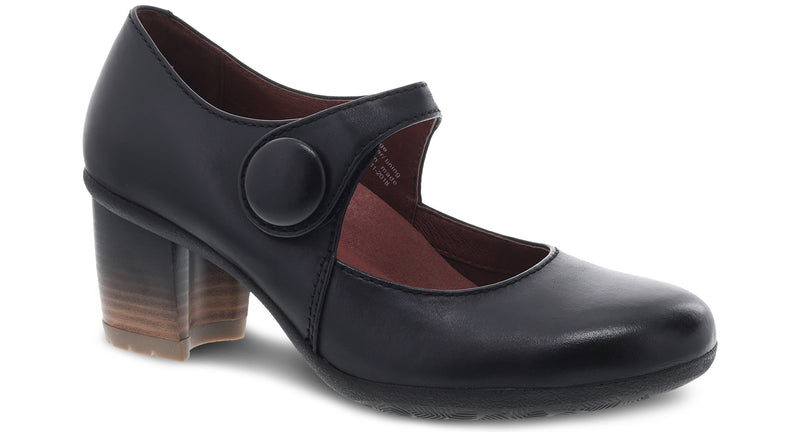 Dansko Women's Page black waterproof burnished