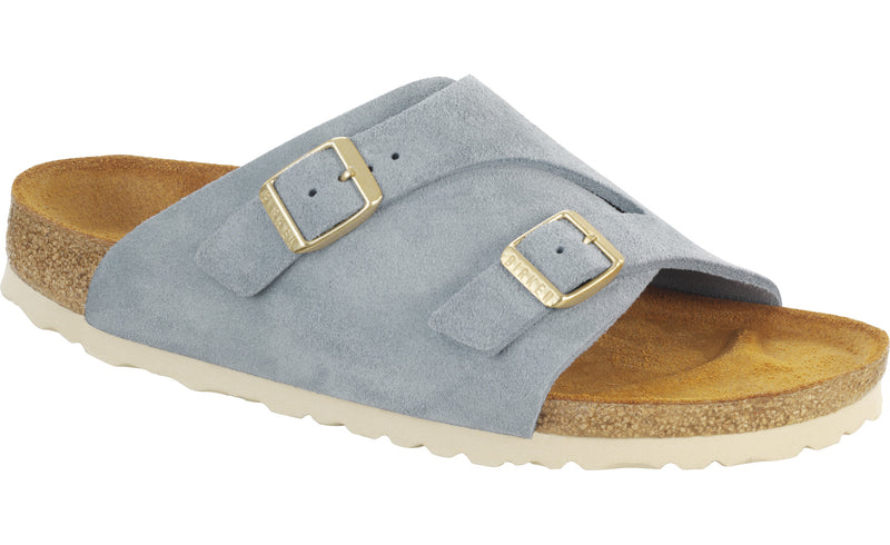 Birkenstock Zurich light blue suede