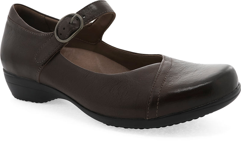 Dansko Fawna chocolate burnished calf leather