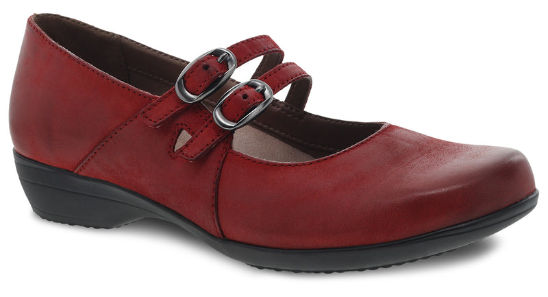 Dansko Women's Fynn red burnished nubuck