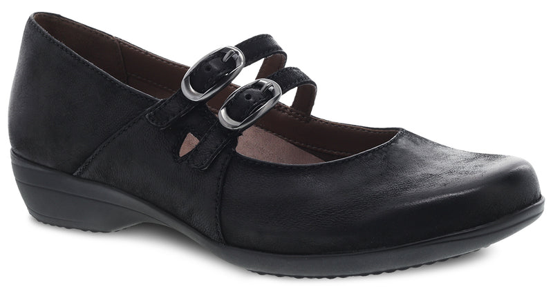 Dansko Women's Fynn black burnished nubuck