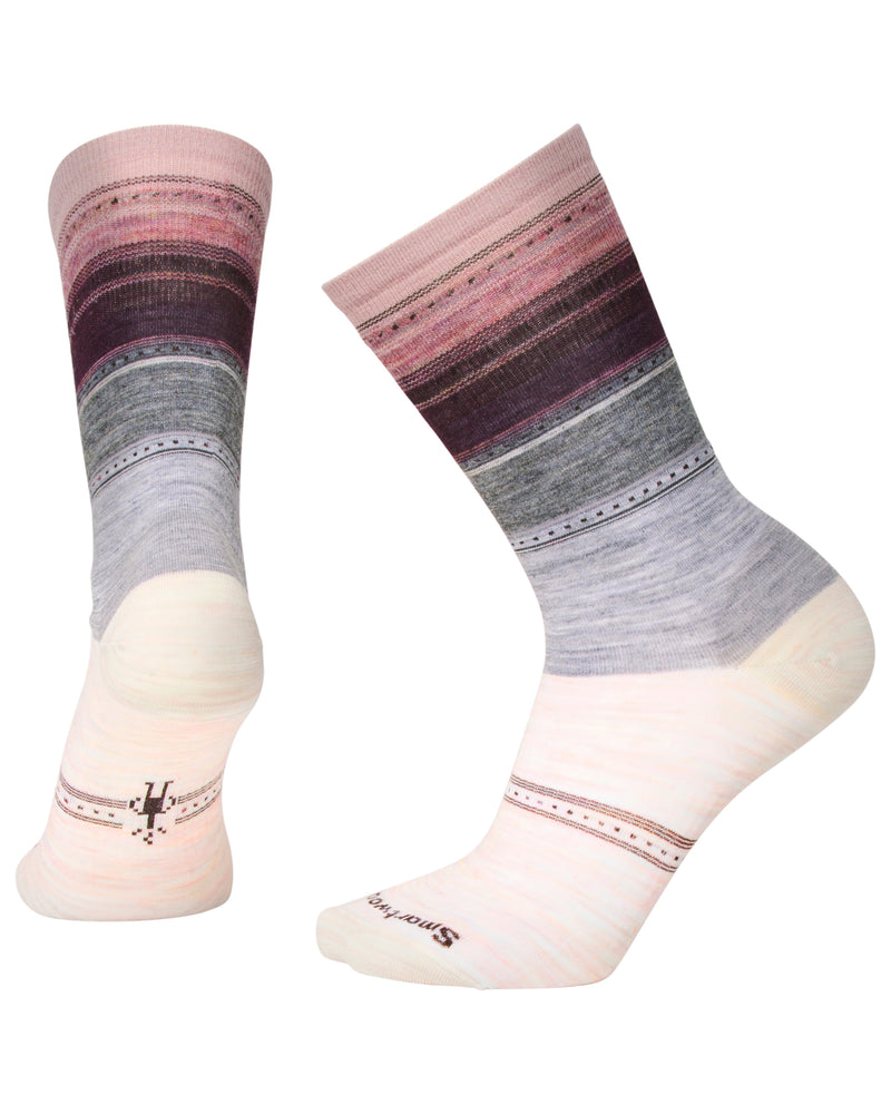 SmartWool Women's Sulawesi Stripe moonbeam heather