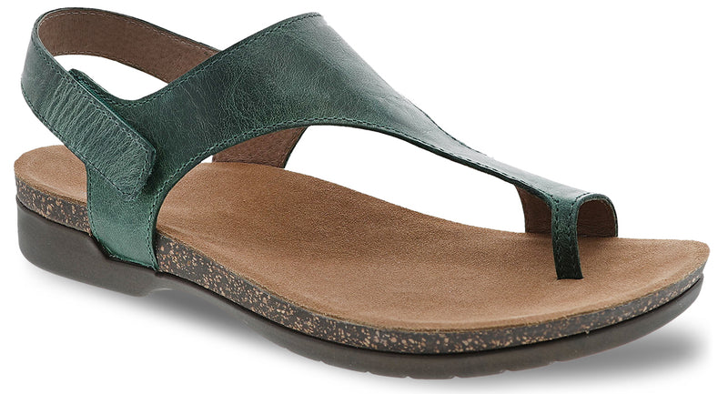 Dansko Reece green waxy burnished