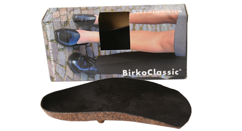 Birkenstock Boston black suede with black shearling