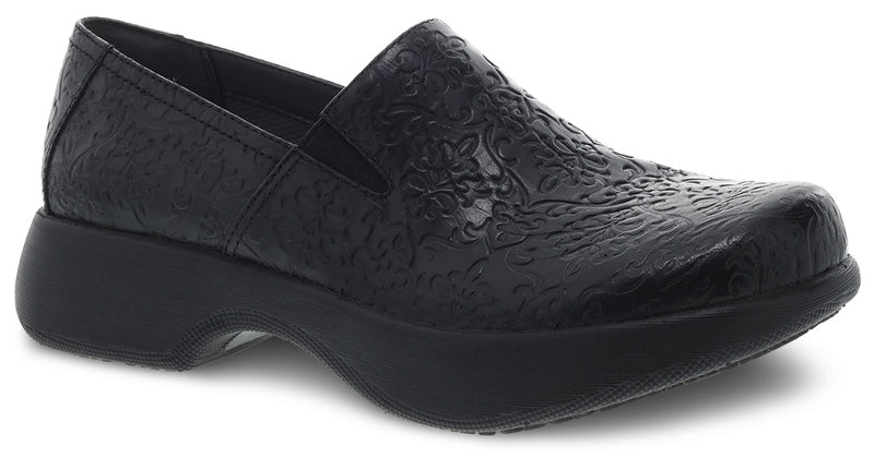 Dansko Women's Winona black tooled leather