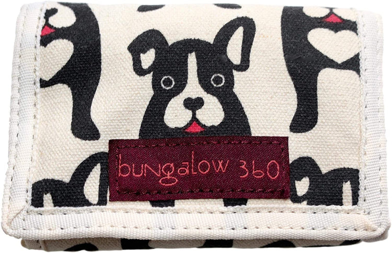 Bungalow 360 Trifold Wallet Black Dog