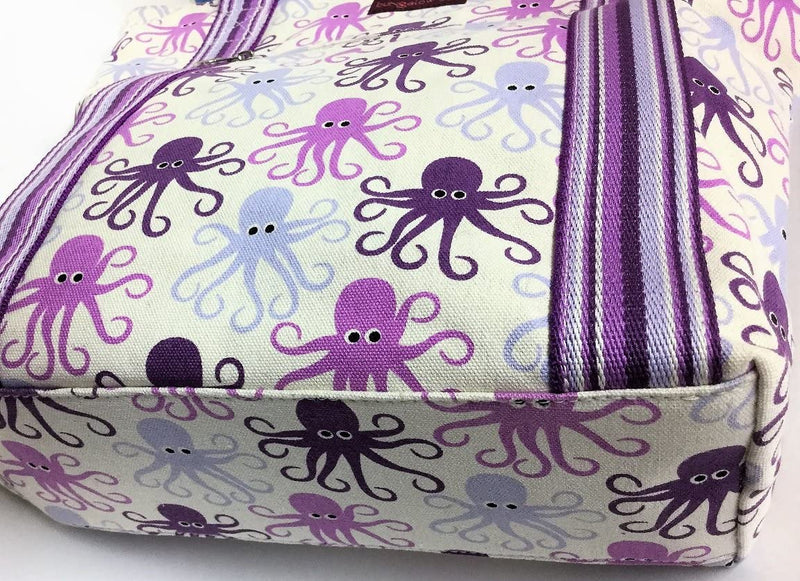Bungalow 360 Striped Tote Octopus