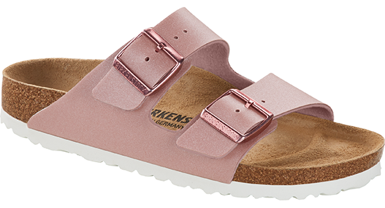 Birkenstock Arizona icy metallic old rose Birko-Flor
