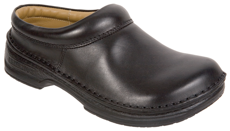 Footprints Alton black leather licensed by Birkenstock