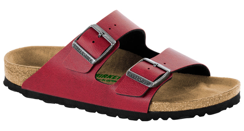 Birkenstock Arizona Vegan bordeaux pull up Birko-flor