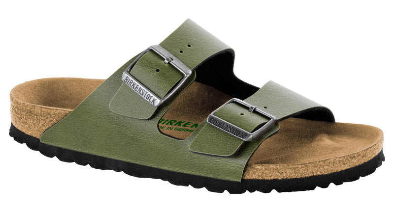 Birkenstock Arizona Vegan olive pull up Birko-flor