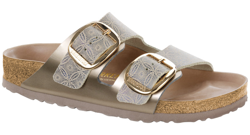 Birkenstock Arizona Hex ceramic blue leather