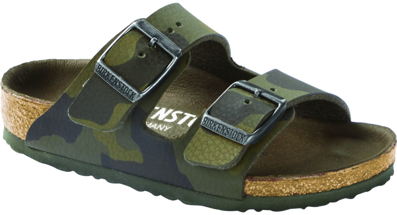 Birkenstock Kid's Arizona camo green Birko-Flor