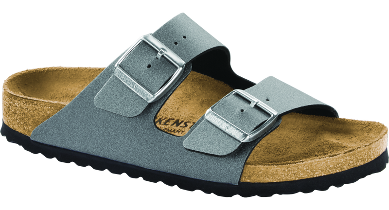 Birkenstock Arizona icy metallic anthracite Birko-Flor
