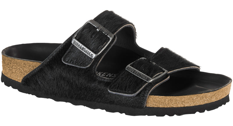 Birkenstock Arizona Womens Hex black hair on hide
