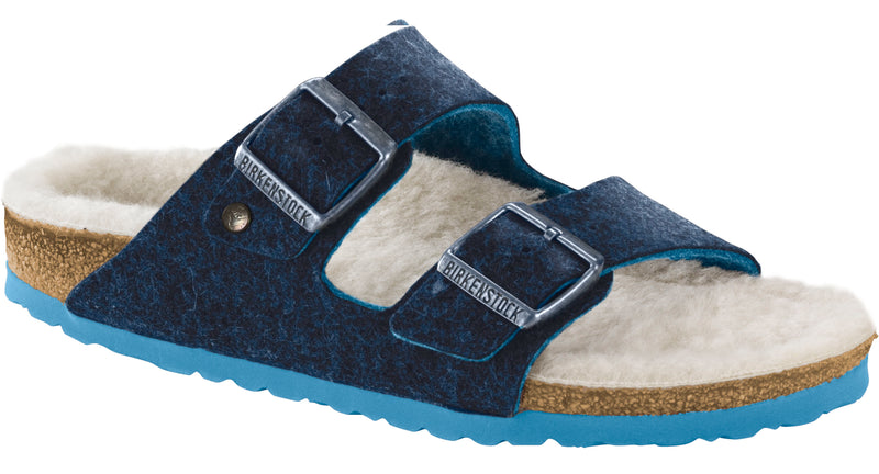 Birkenstock Arizona Men's Happy Lamb blue wool