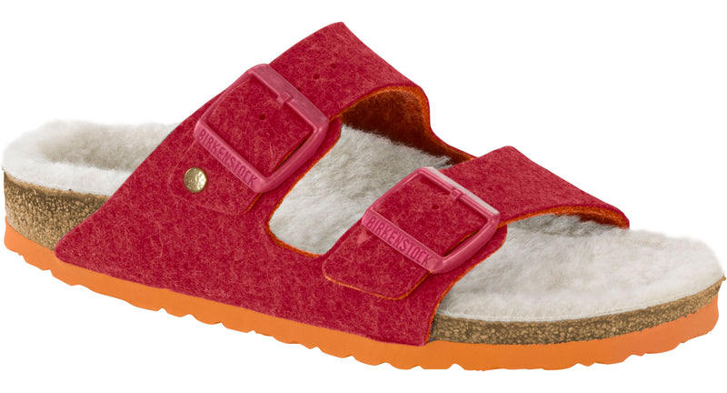 Birkenstock Arizona Women's Happy Lamb fuchsia wool