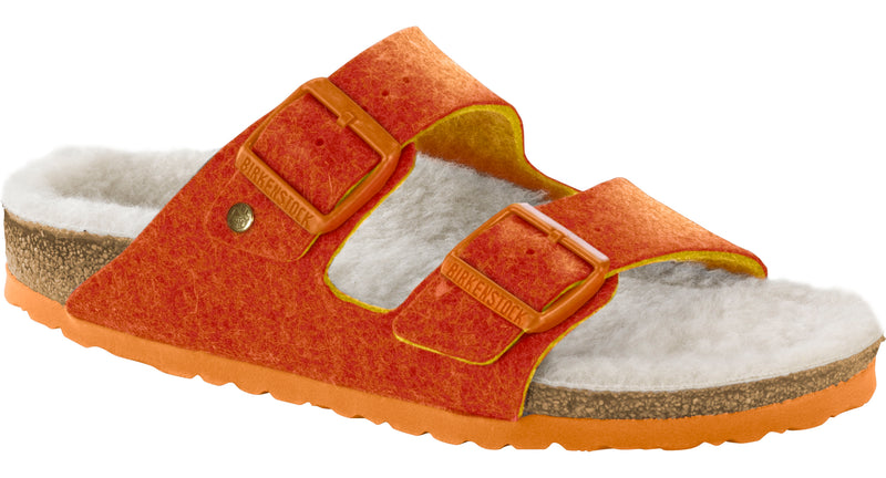 Birkenstock Arizona Happy Lamb orange wool