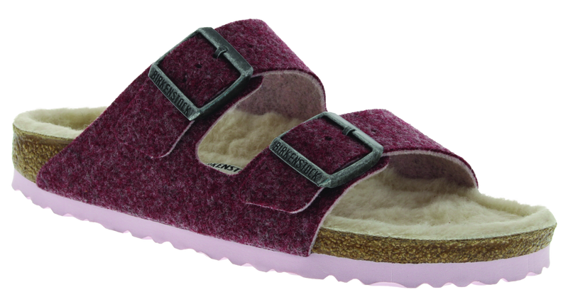 Birkenstock Arizona Women's Happy Lamb port wool