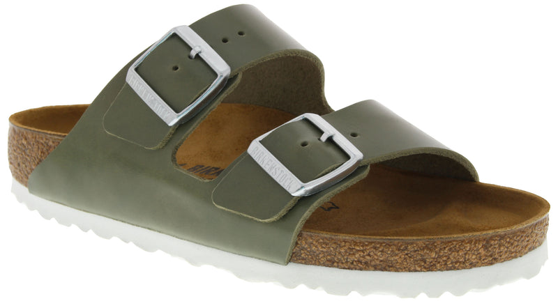 Birkenstock Arizona khaki leather