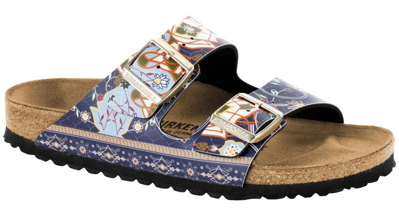 Birkenstock Arizona ancient mosaic blue Birko-Flor