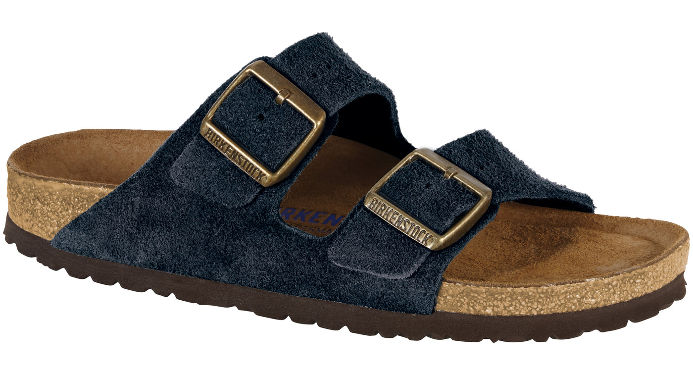 2f44b588124a Birkenstock Arizona Soft Footbed dark navy suede – Footprints Lawrence