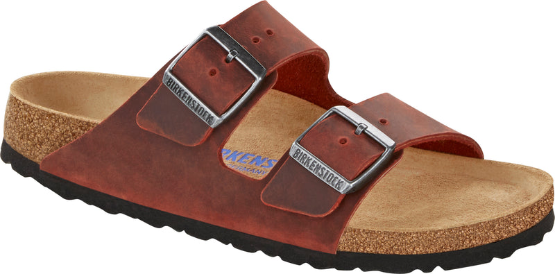 Birkenstock Arizona Soft Ftbd earth red oiled leather