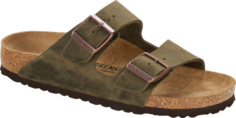 Birkenstock Arizona Soft Ftbd mud green oiled leather
