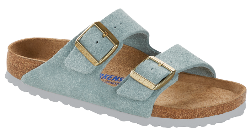 Birkenstock Arizona Soft Ftbd light blue suede