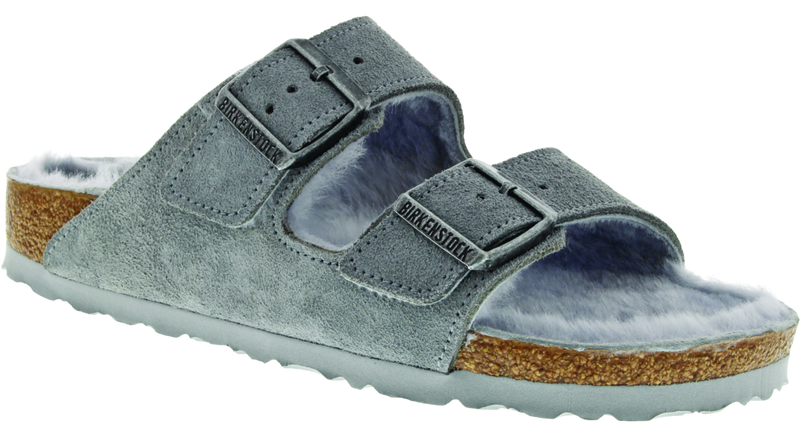 Birkenstock Arizona Shearling dove gray suede