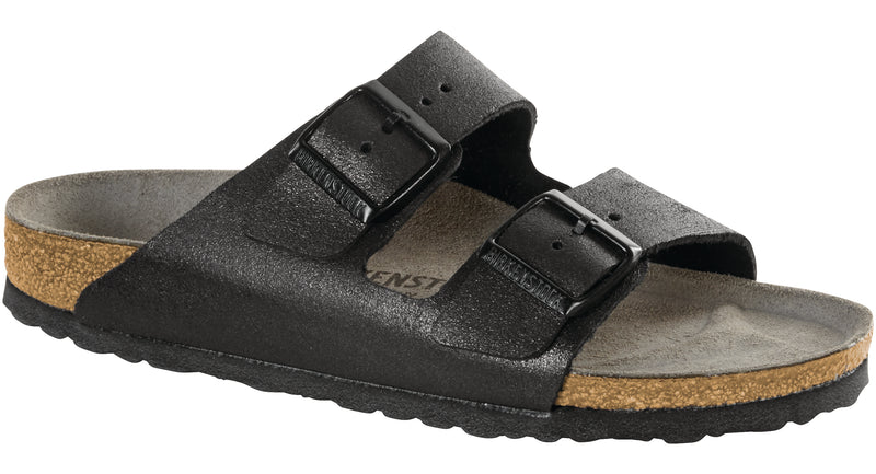 Birkenstock Arizona washed metallic antique black leather