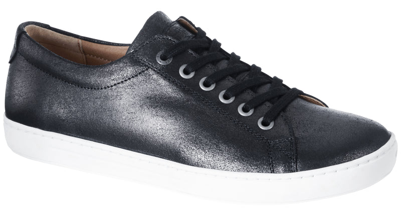 Arran Women's metallic black leather