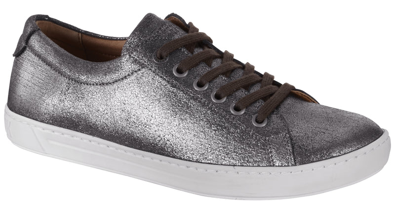 Arran Women's metallic silver leather